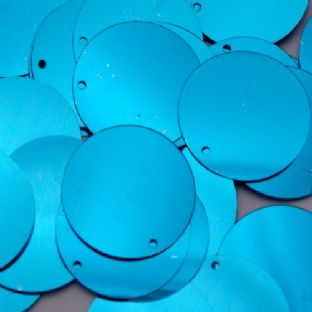 Large 25mm Metallic Turquoise Penny Sequins x 100